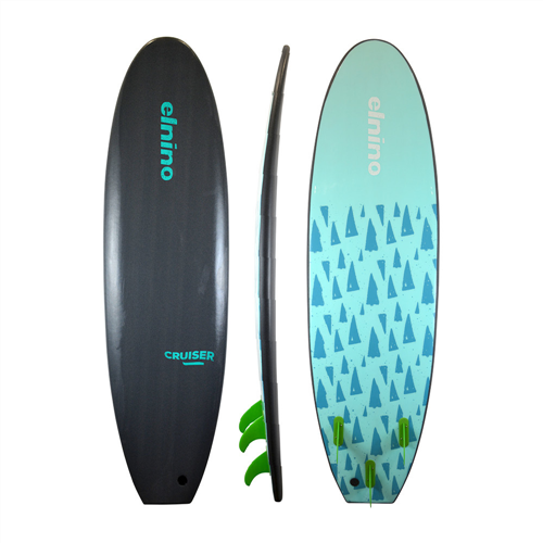 El Nino Cruiser Softboard, Qtz Grey, 6'6