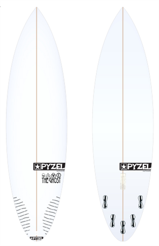 Pyzel Ghost Board with 5 FCS II Fins