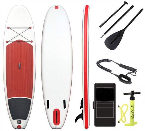 """Blank Inflatable Sup Combo Full Package - 10'2 X 33"""", White Red Black"""