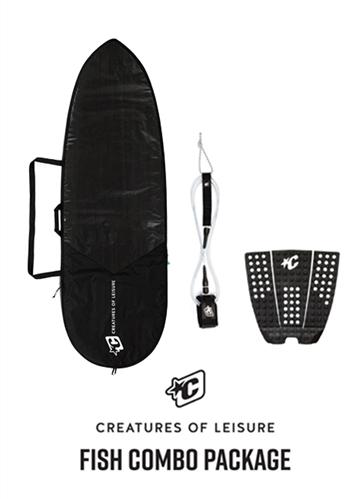 Creatures Of Leisure Fish 3mm Foam Lite Bag, 6'0 Pro Leash, Icon Grip Combo
