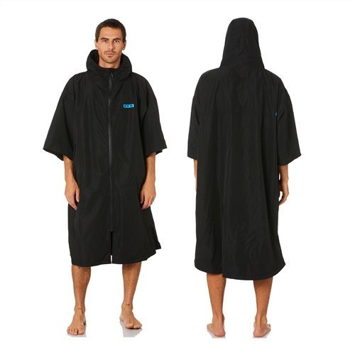 FCS Unisex Shelter All Weather Hooded Poncho, Black