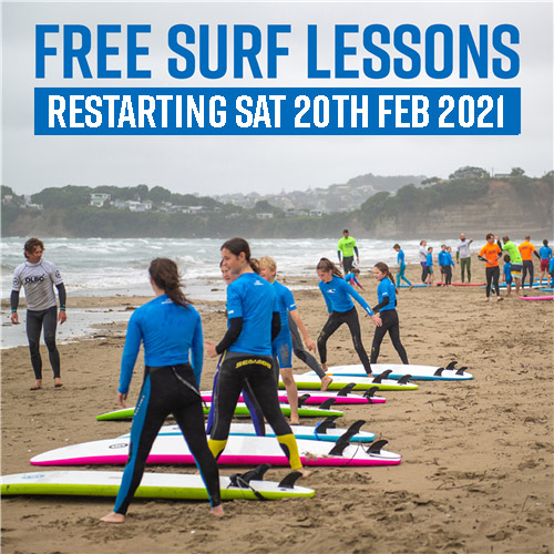 US Free Learn to Surf Lessons with Us for 2021