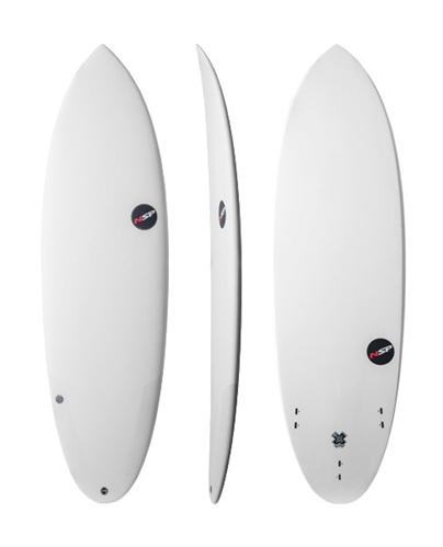 NSP Protech Epoxy Hybrid Glacier Surfboard, Grey