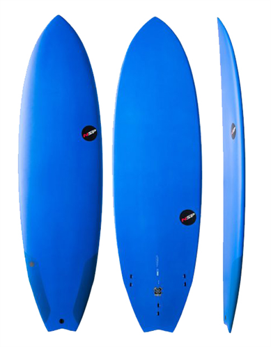 NSP Protech Fish Surfboard, Blue