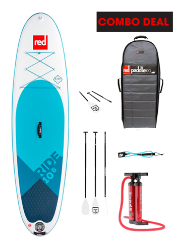 """Red Paddle Co 10'6"""" Ride Inflatable Sup 2018 Model"""