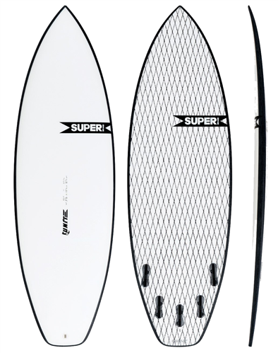 Super Brand Unit SuperFlex Shortboard, Clear