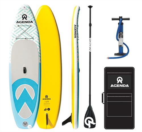 "Agenda Tender Isup - 10'6 x 33"" x 6"" Board Bag & Fin Package"