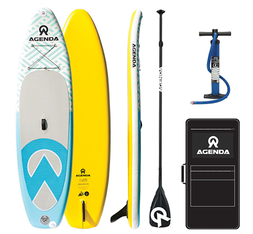 Agenda Tender iSUP 10'6 Combo with 3pc HC Carbon Paddle and 10ft Leash