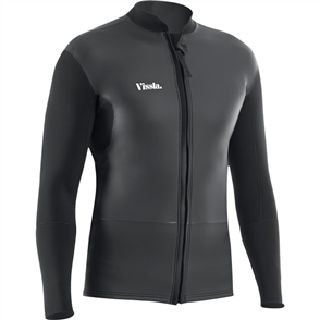 Vissla Front Zip Jacket Smooth Skin, Black
