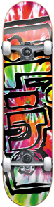 Blind Heady Tie Dye Complete Skateboard, Multi