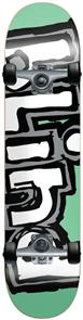 Blind Og Matte Logo Complete Skateboard, Mint Silver