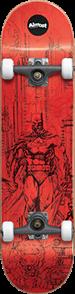 Almost Batman Jim Lee Complete Skateboard, Red