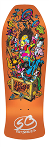 "Santa Cruz Grosso Toybox Candy Orange Reissue 29.5"" x 10"" Deck"