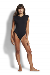 Seafolly Maillot with Shoulder Pads Onepiece, Black