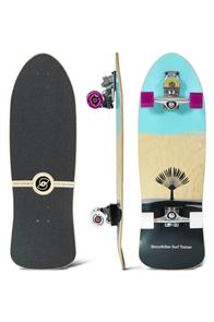 "SmoothStar Johanne Defay Pro Model 32.5"" Surf Skateboard, Aqua/ Grey"