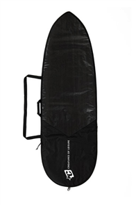 Creatures Of Leisure Fish Icon Lite Surfboard Bag, Black/ Silver