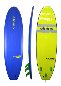 El Nino Cruiser Softboard, Deep Blue. 7'0