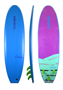 El Nino Diva Softboard, Light Blue, 7'0
