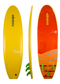 El Nino Diva Softboard, Mango, 7'0
