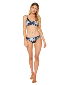 Oneill Bowfin Bikini Top, Black Tropical