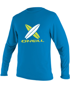 Oneill BOYS TODDLER SKINS Long Sleeve RASH TEE, Brite Blue
