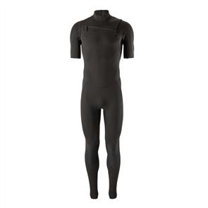 Patagonia Men's R1 Lite Yulex Front-Zip Short Sleeve Full Suit, Black