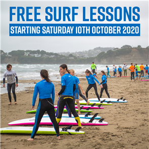 US Free Learn to Surf Lessons with Us for 2020/2021