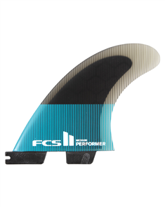 FCS II Performer PC Teal/Black Quad Retail Fins