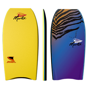 Manta Sonic Bodyboard, Yellow
