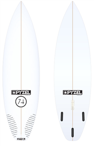 Pyzel 74 Board with Thruster Future Fins