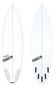 Pyzel JJF Slab 2.0 Board with 5 Future Fins