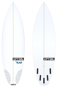 Pyzel Slab Board with 5 Future Fins
