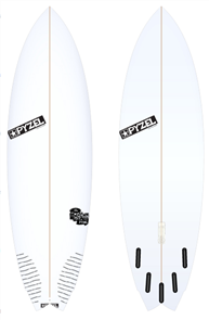 Pyzel Nugget Board with 5 Future Fins