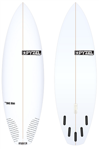 Pyzel The Rip Off Board with 5 Future Fins