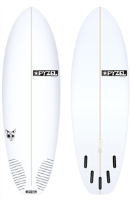 Pyzel Rat Skull Board with 5 Future Fins