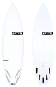Pyzel Super Grom Board with 5 Future Fins