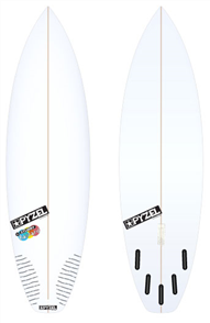 Pyzel Stubby Bastard Board with 5 Future Fins