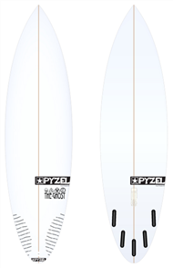 Pyzel Ghost Board with 5 Future Fins