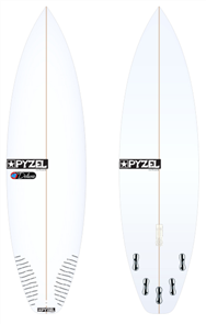 Pyzel Deluxe Board with 5 FCS II Fins