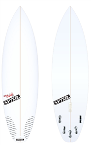 Pyzel JJF Slab 2.0 Board with 5 FCS II Fins