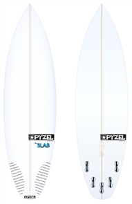 Pyzel Slab Board with 5 FCS II Fins