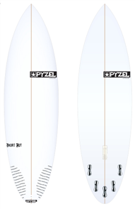 Pyzel Short Cut Board with 5 FCS II Fins