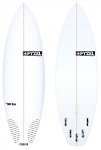 Pyzel The Rip Off Board with 5 FCS II Fins