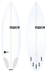 Pyzel Bastard Board with 5 FCS II Fins
