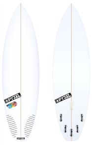 Pyzel Stubby Bastard Board with 5 FCS II Fins