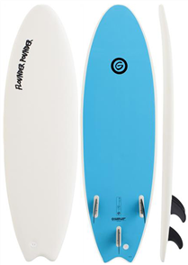 Gnaraloo Flounder Pounder Softboard, White Blue