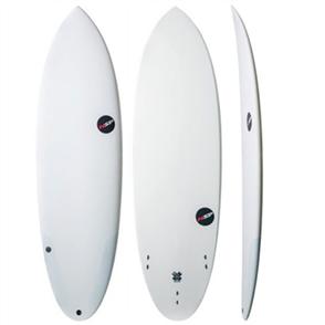 NSP Protech Epoxy Hybrid Glacier Surfboard, White