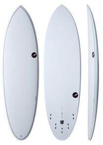 NSP 2017 06 Elements Hdt Epoxy Hybrid Short Surfboard, White