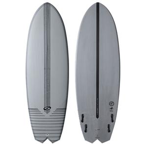 Surftech Bombfish Fusion Hyperdrive Surfboard, Grey