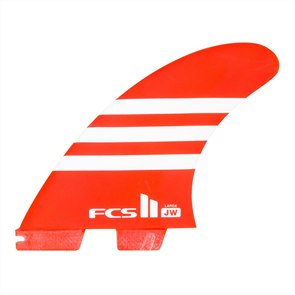 FCS II JW Pc Ltd Edn Thruster Fins, Red White